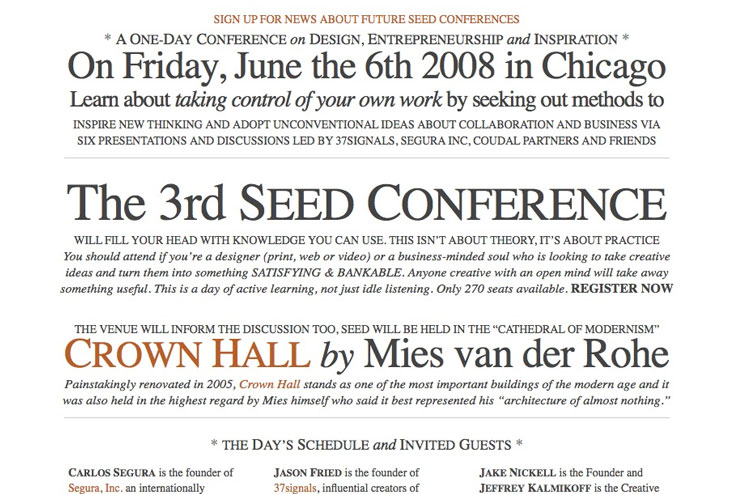 Seed Conference Website