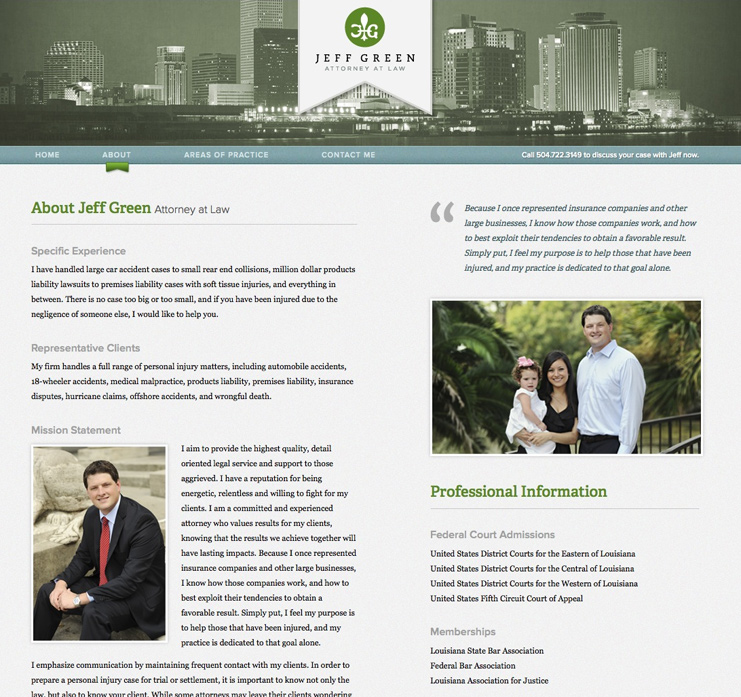 Jeff Green | Attorney at Law Website
