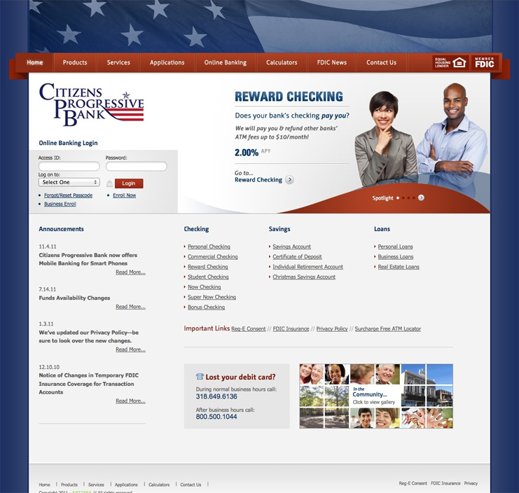 Citizens Progressive Bank Website