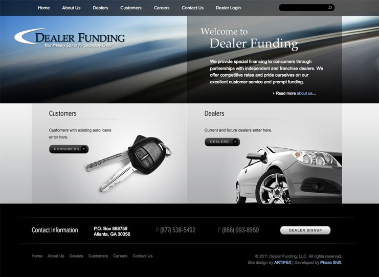 Dealer Funding Website