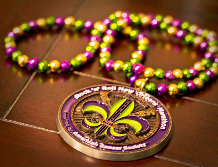 Rock 'n' Roll New Orleans Marathon Finisher Medal