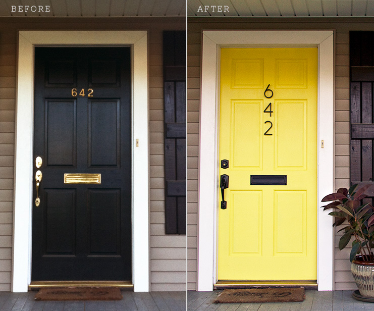 Yellow Door Before and After