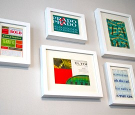 Type Specimens Framed